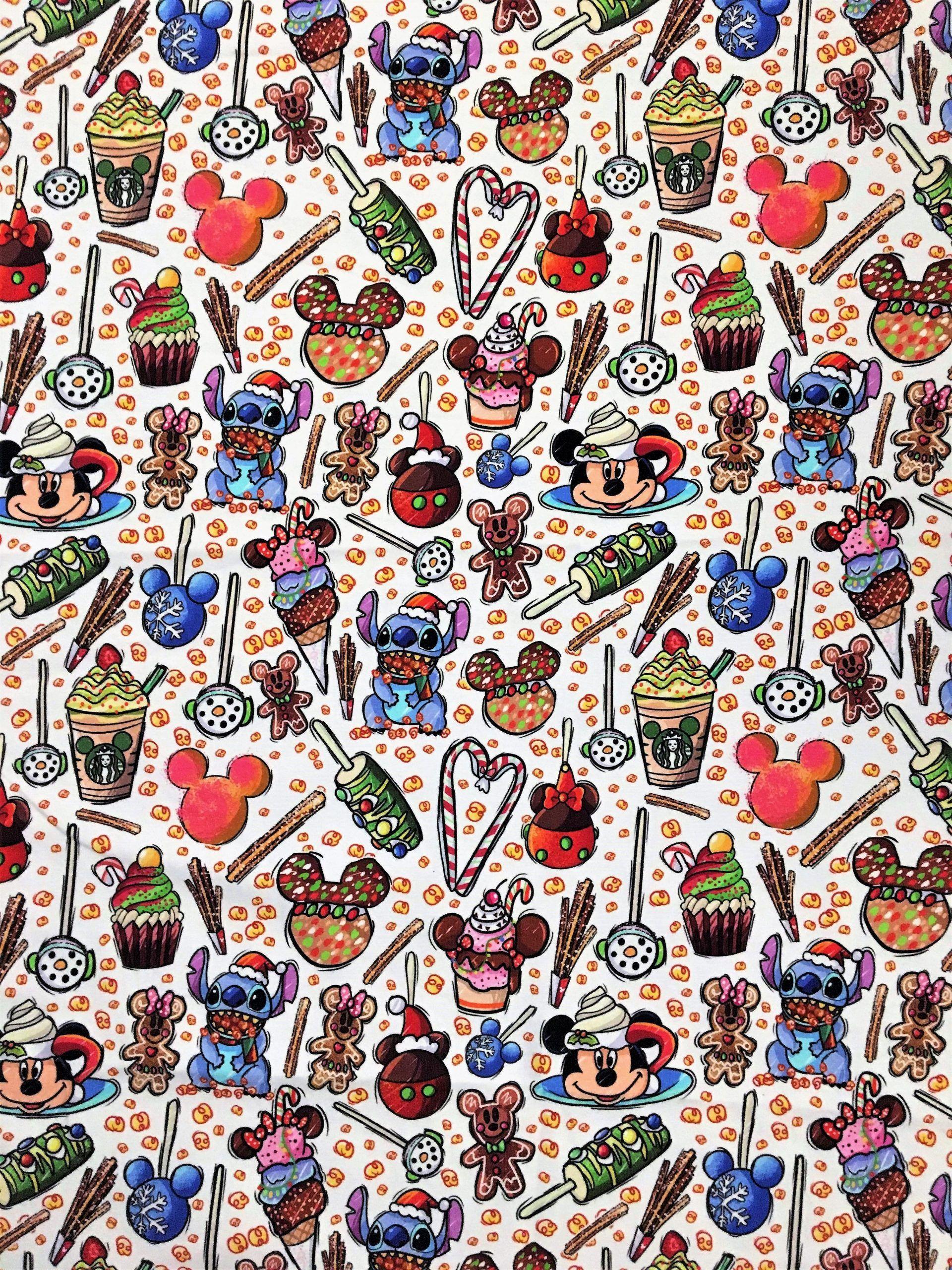 Disney Christmas Wallpaper Fabric In 2020 Wallpaper Iphone