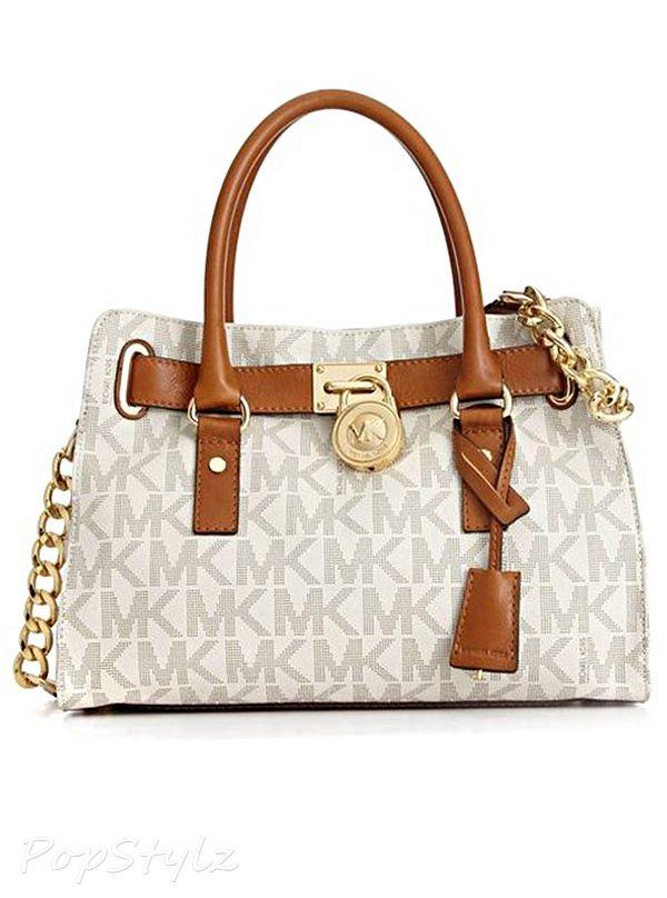 Michael Kors Signature Hamilton Satchel Handbag