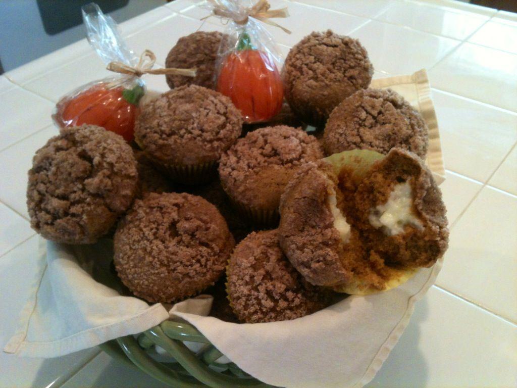 Pumpkin Cream Cheese Stuffed Muffins