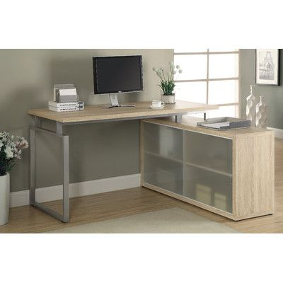 Found it at Wayfair - Beaudry L-Shaped Writing Desk Healing Colors