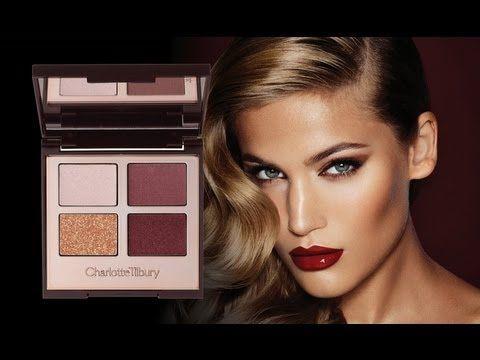Charlotte Tilbury 'the vintage vamp' palette and look