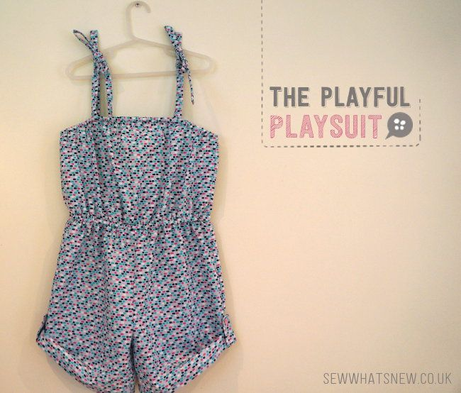 Oh-so playful playsuit | SEWING | Pinterest | Girls playsuit, Sewing ...