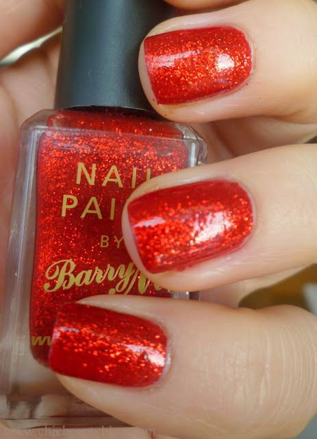 red glitter nails, had them for xmas beautiful