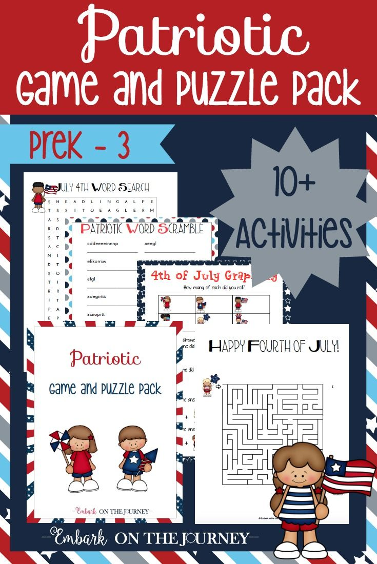 Printable Patriotic Games For Kids Patriotic Activities Patriotic Printables Summer Fun For Kids [ 1100 x 735 Pixel ]