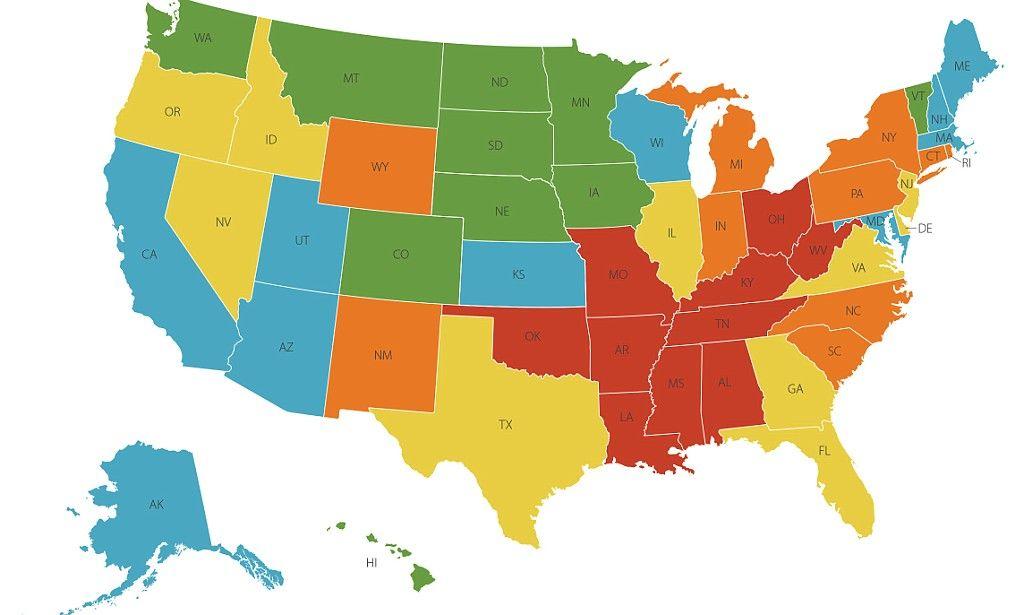 North Dakota tops the list of happiest U.S. states, with