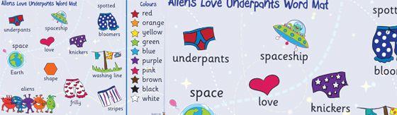 Aliens Love Underpants Word Mat Http Displays Tpet Co