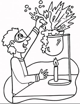 Printable Science Lab Coloring Pages 1  Science  Pinterest