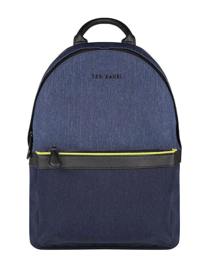 c3ab04b20 Ted Baker Men's Zirabi Nylon Contrast Trim Backpack - Navy | Bags ...