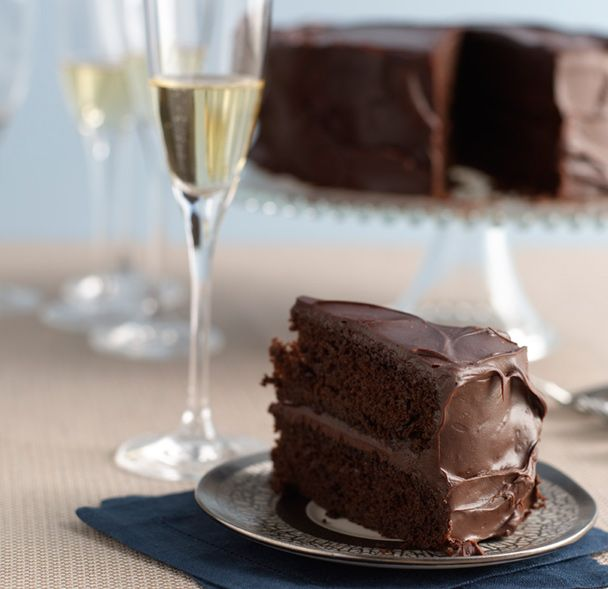 DoubleDeepChocolate Hanukkah Layer Cake Recipe Dairy free