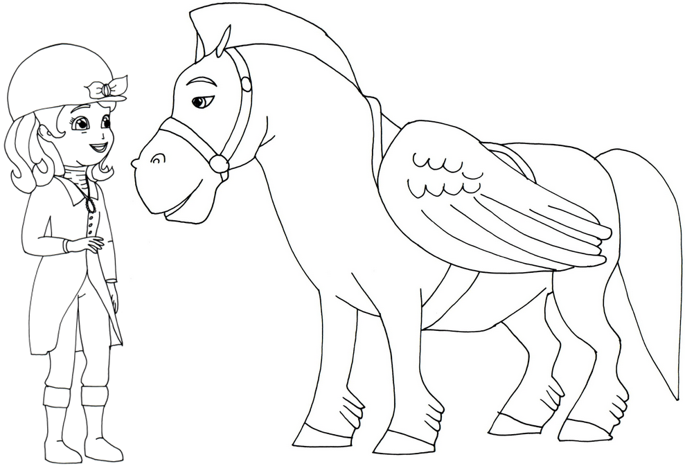 Superbe Sofia The First Coloring Pages: Minimus And Sofia The First Coloring Page