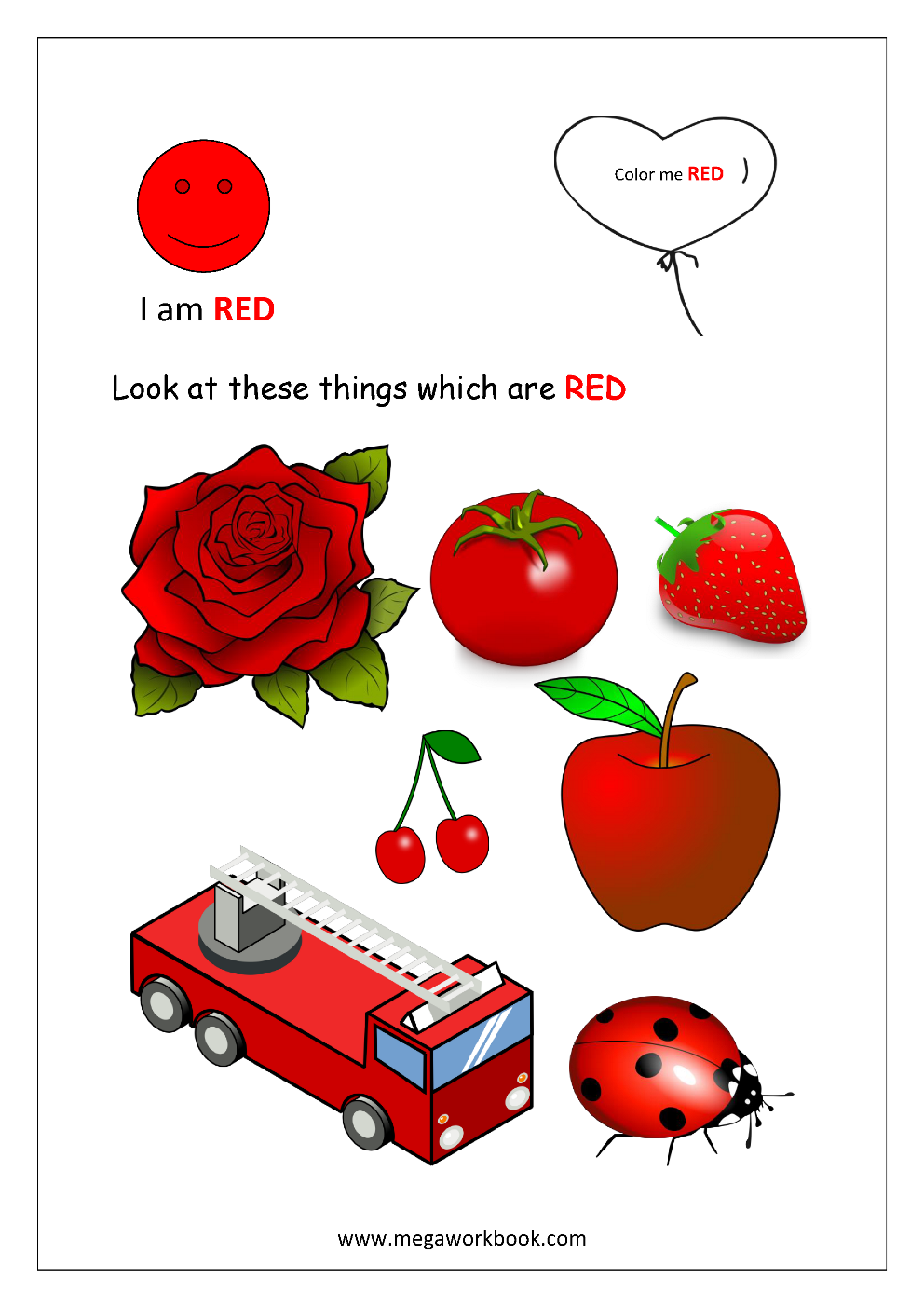 Color Recognition Worksheets for Preschool Learn Basic