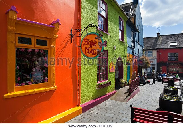 Pedestrianised Street Off Market Square Kinsale County Cork Ireland Stock Image Viillage Walk 32 1 Kinsale Kinsale County Cork Cork Ireland