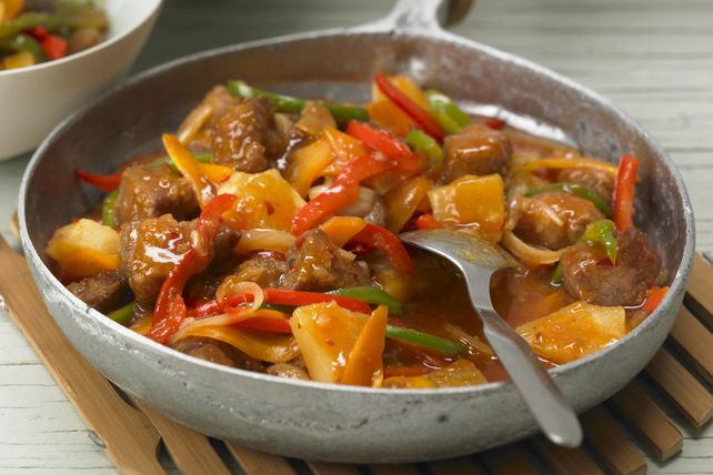 This Sweet & Spicy Pork Stir-Fry recipe is sure to get great