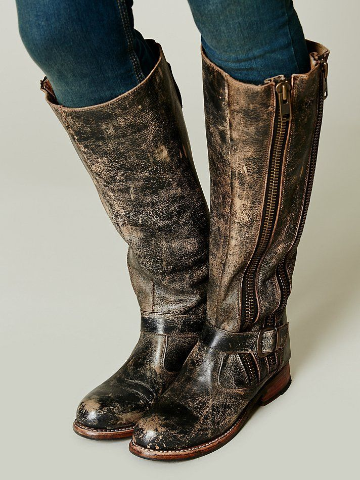 6699d6b6db6 Bed Stu 'Tango' Boot Brown Distressed Leather Tall Knee High Boots ...