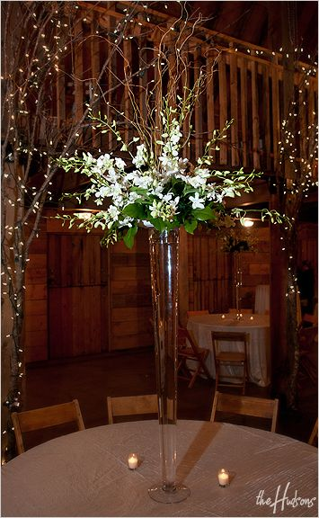 Large Sprays Of White Flowers In Tall Skinny Vases Photo By Jason