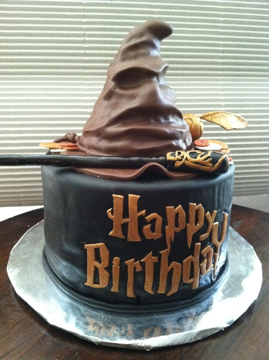 Harry Potter Sorting Hat Birthday Cake On Cake Central Recipes To