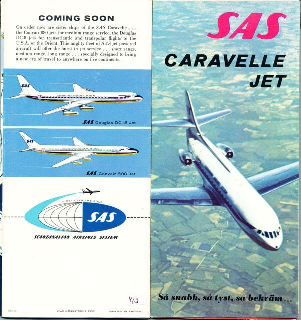 Sas Scandinavian Airlines System In 2020 Scandinavian Airlines System Vintage Airline Ads Aviation Posters
