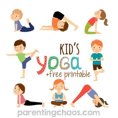 Yoga for Kids + Free Printable | OT | Preschool yoga, Yoga