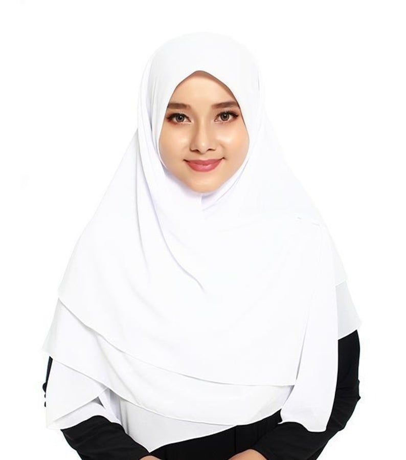 Zaria Square End Curve Scarf Instant Hijab Khimar Muslim  Etsy Zaria Square End Curve Scarf Instant Hijab Khimar Muslim  Etsy Hijab hijab arrafi 098