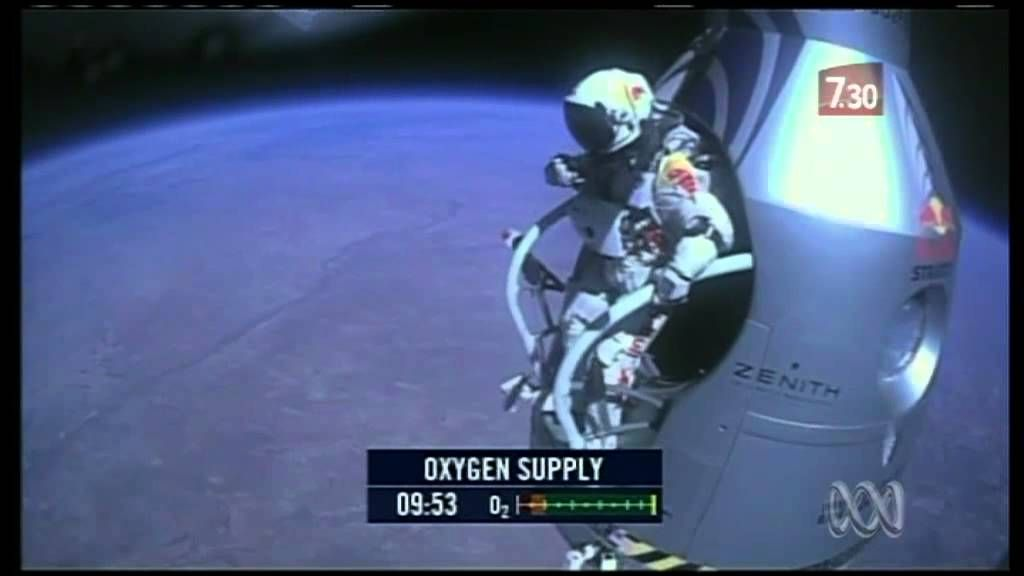 Austrian daredevil breaks sound barrier jumping from space