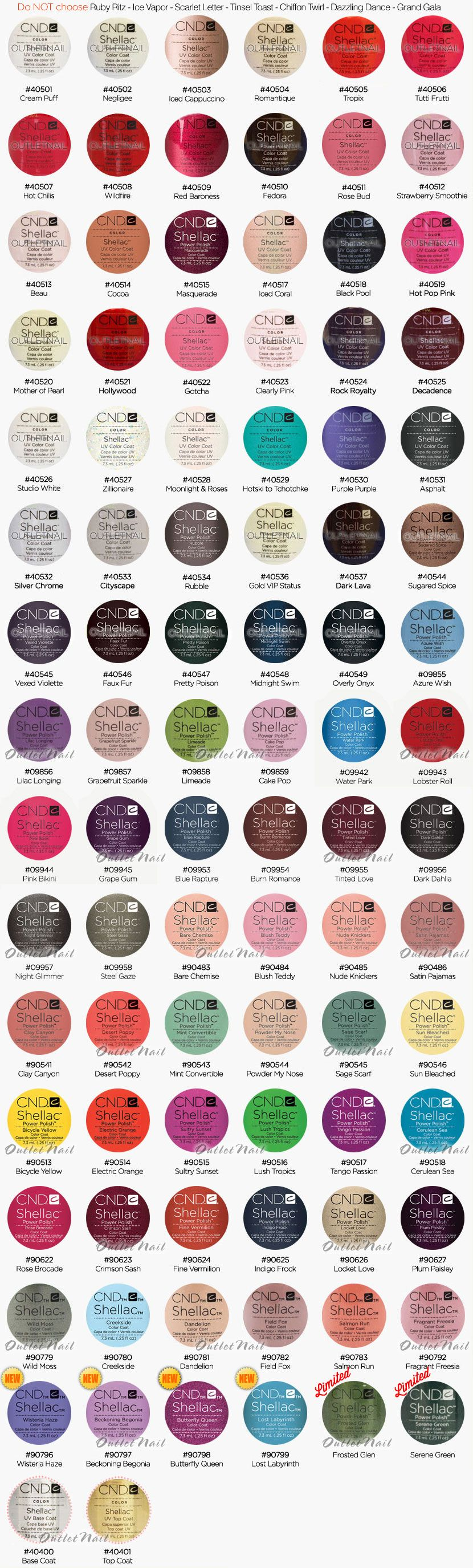 Outletnail items get great deals on cnd shellac color chart outletnail items get great deals on cnd shellac color chart items on ebay stores prinsesfo Image collections
