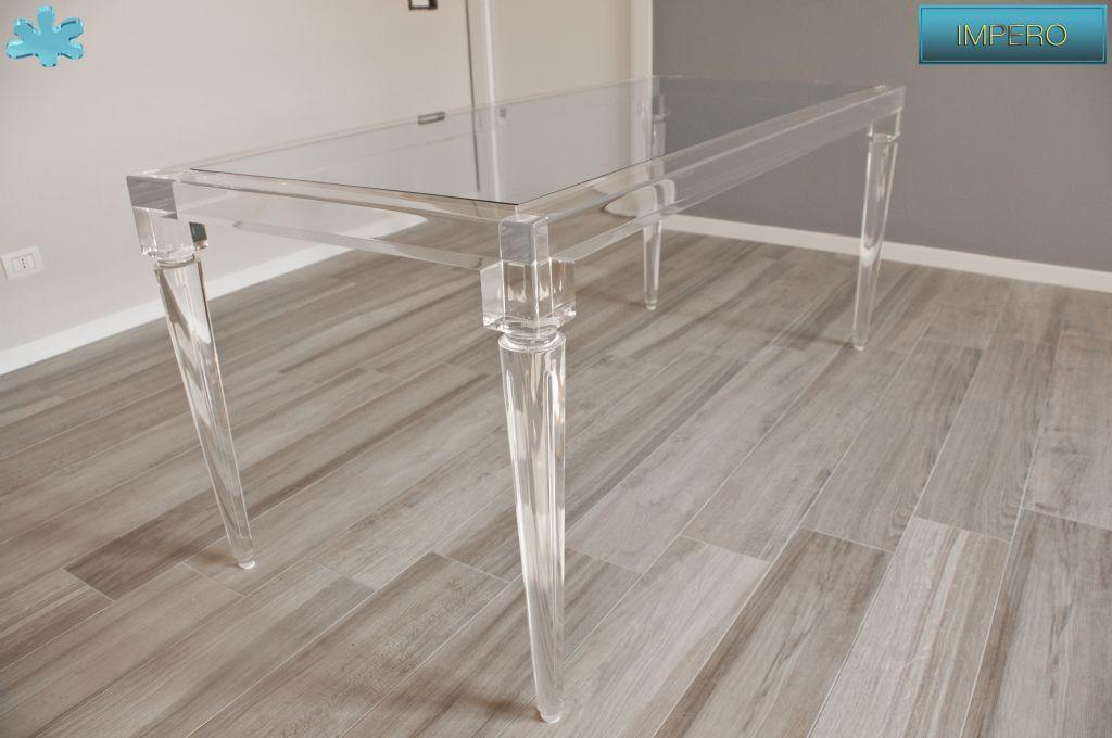 Lucite Acrylic dining table TAVOLI PRANZO IN PLEXIGLAS
