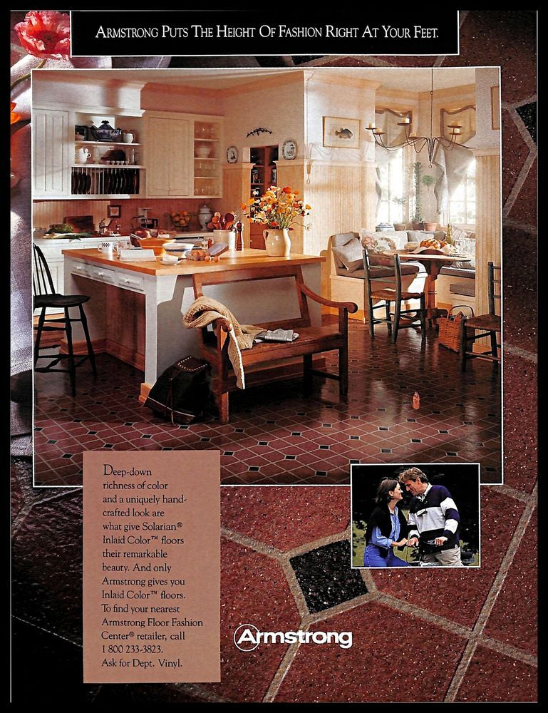 Details About 1993 Armstrong Floors Vintage Print Ad Kitchen Fashion