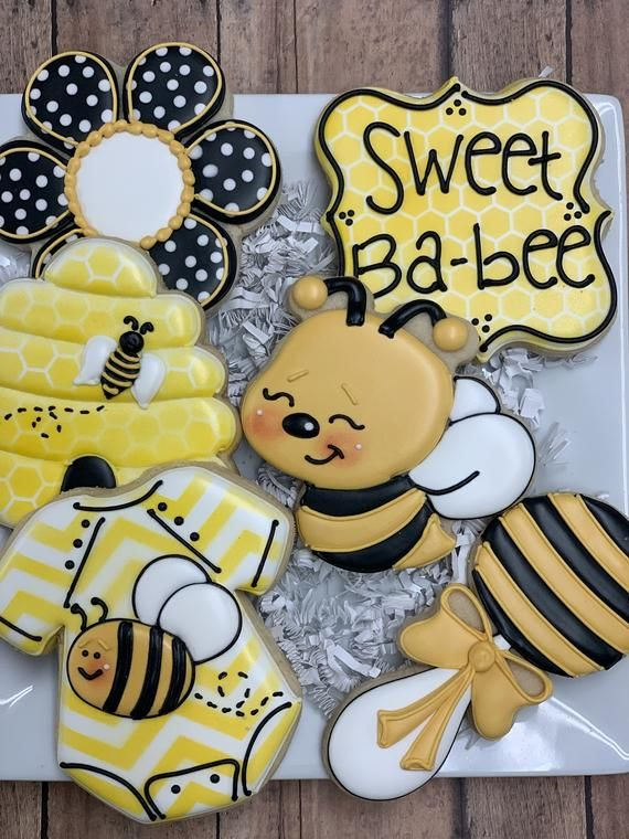 Sweet Ba-bee Baby Shower Cookies, Bee Themed Cookies, What will it Bee, Party Favors