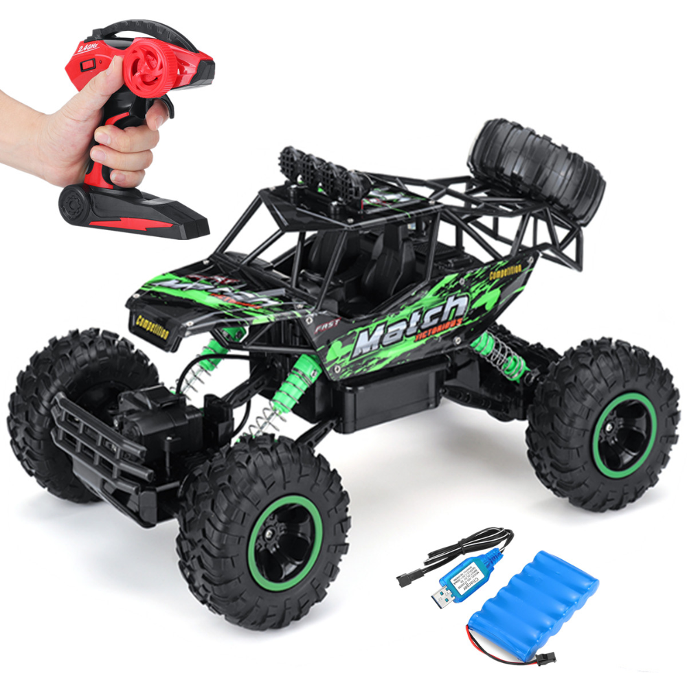 Free 2 Day Shipping Buy 1 12 4wd Alloy Speed Rc Car 2 4g Radio Remote Control Rock Crawler Monster Truck Off Road Vehicle For Children Toy Gift Green At Walm