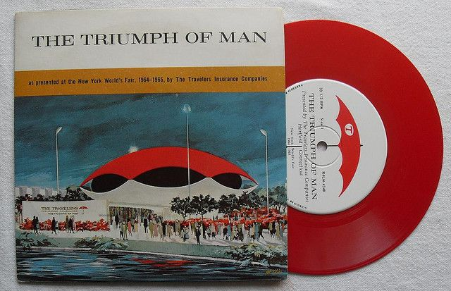 1964 1965 Worlds Fair Triumph Of Man Vintage 7 Inch Record Single