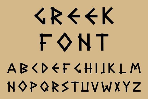 Black Letters In Ancient Style Greek Letters Font Greek Font Ancient Letters