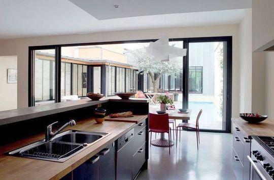 Idée aménagement cuisine semiouverte