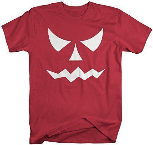 Men\u0027s Glow In The Dark Halloween T-Shirt Scary Pumpkin Face Shirts - halloween t shirt ideas