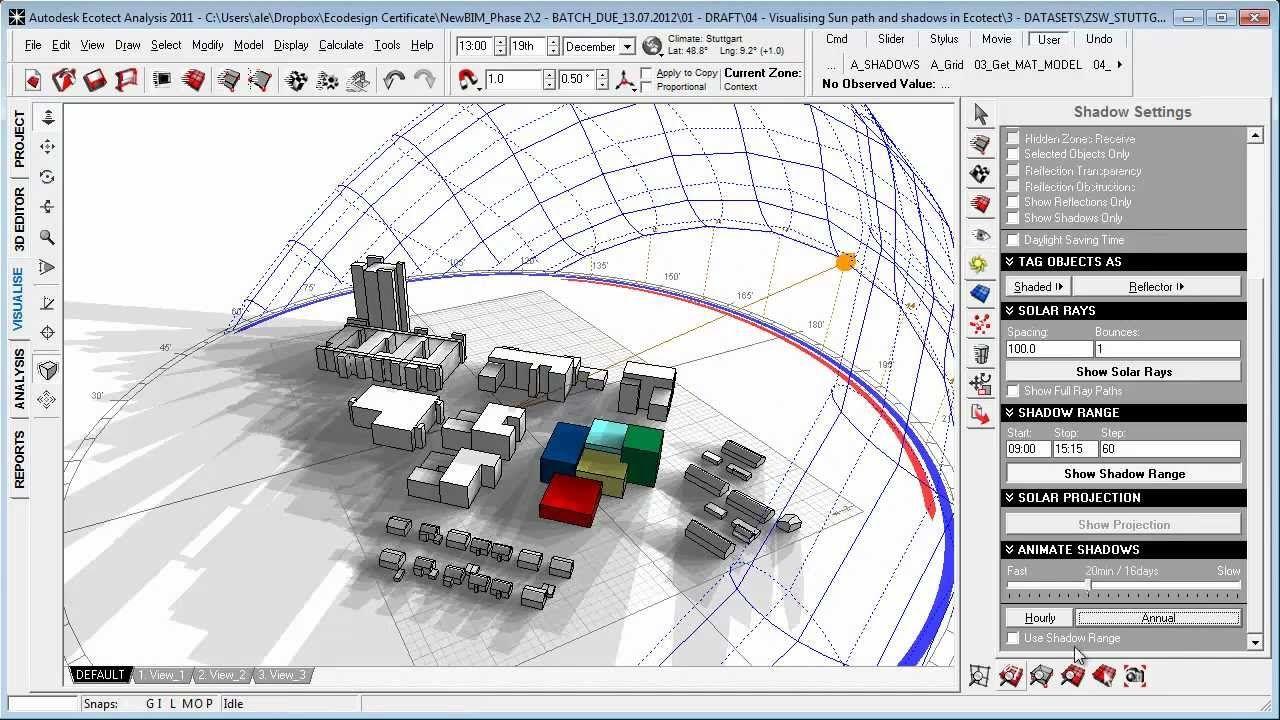 Visualizing Sun Path And Shadows In Autodesk Ecotect Sun Path