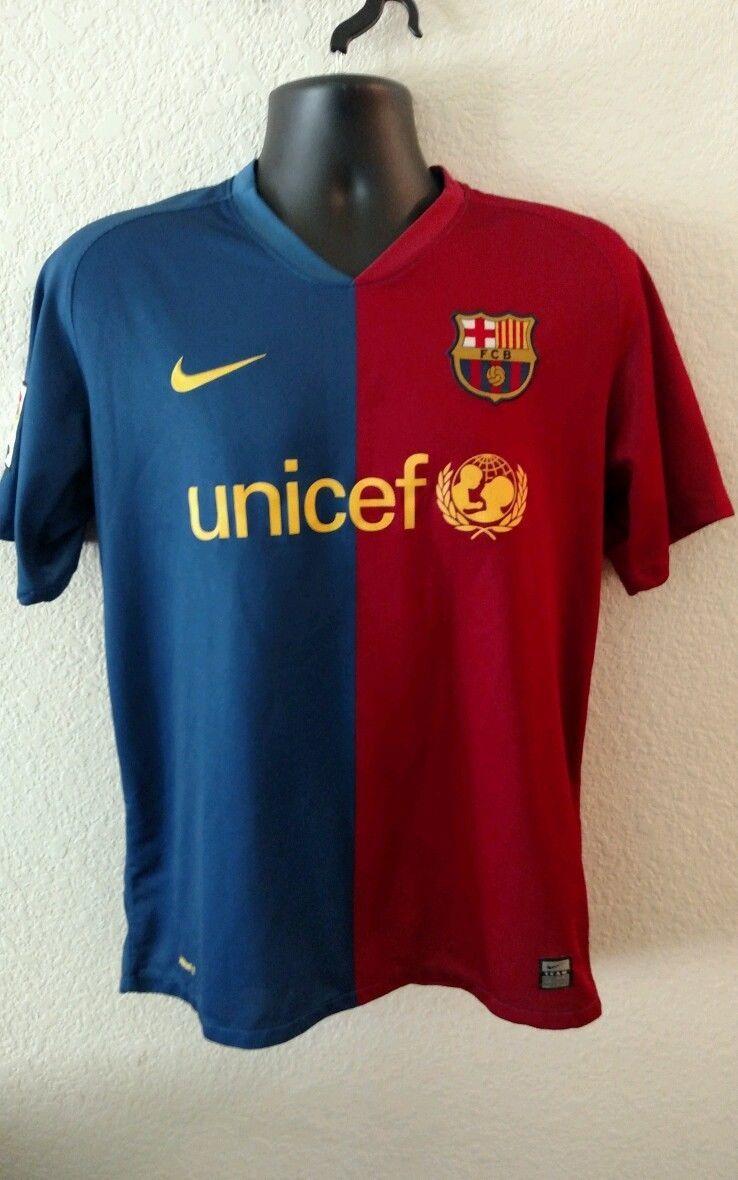 Nike Fit Dry Fcb Lfp Barcelona Unicef Soccer Futbol Team Mens M Jersey Unicef Men Soccer
