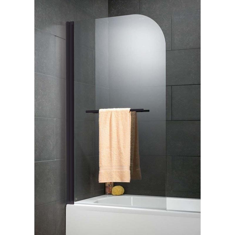 pare baignoire rabattable 80 x 140 cm verre 5 mm anticalcaire paroi de baignoire 1 volet