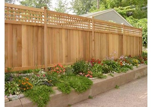 Privacy Fence Design Ideas Pictures Privacy Fence Landscaping Backyard Fences Fence Design