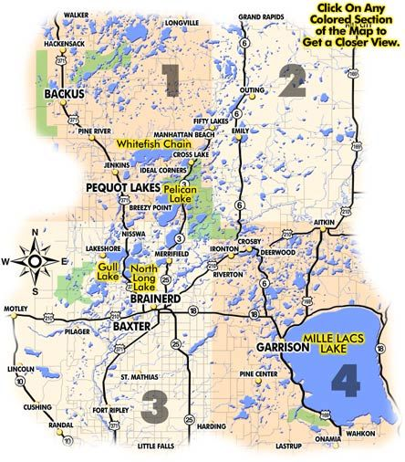 Map of lakes around Brainerd MN  Minnesota 2012  Pinterest