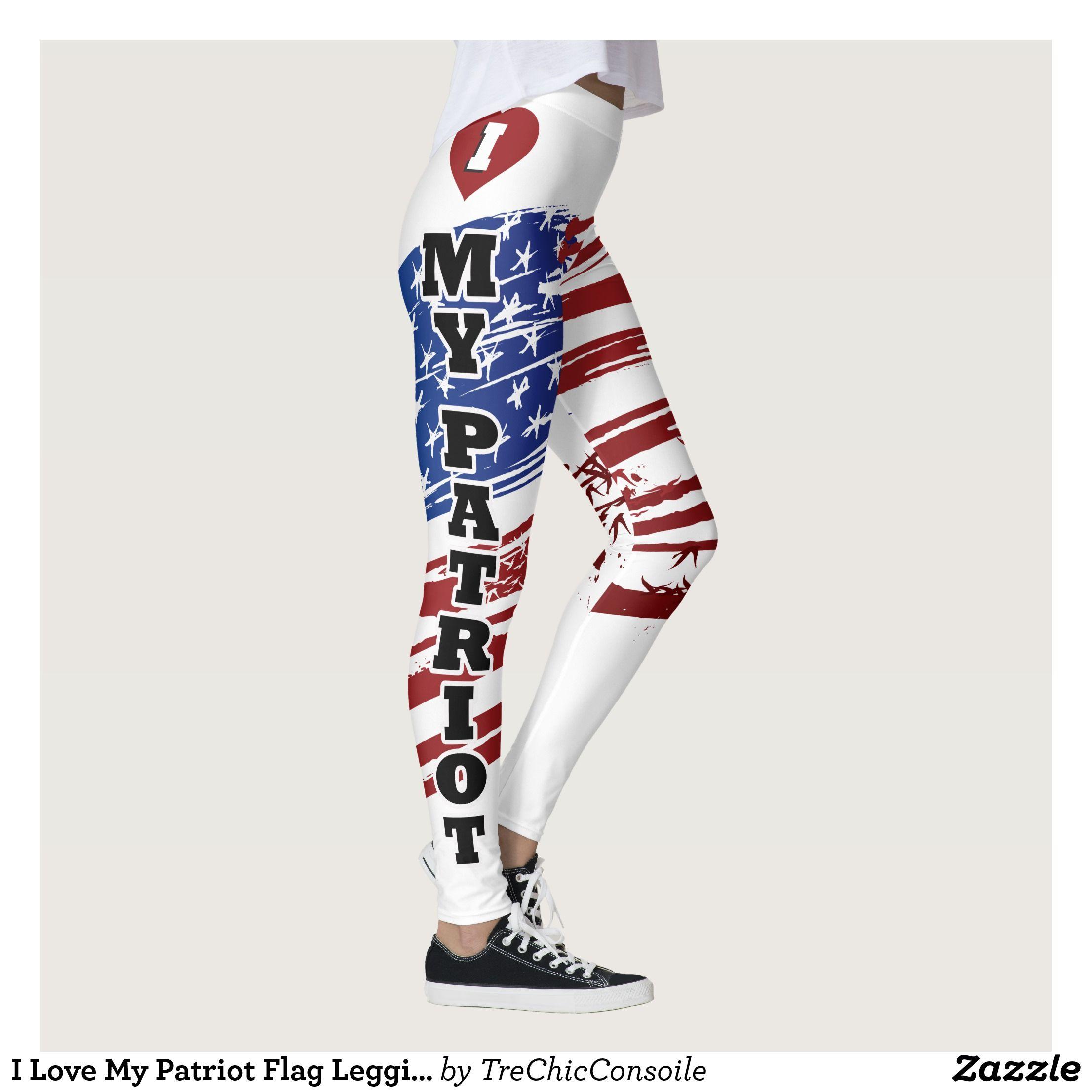 I Love My Patriot Flag Leggins Leggings