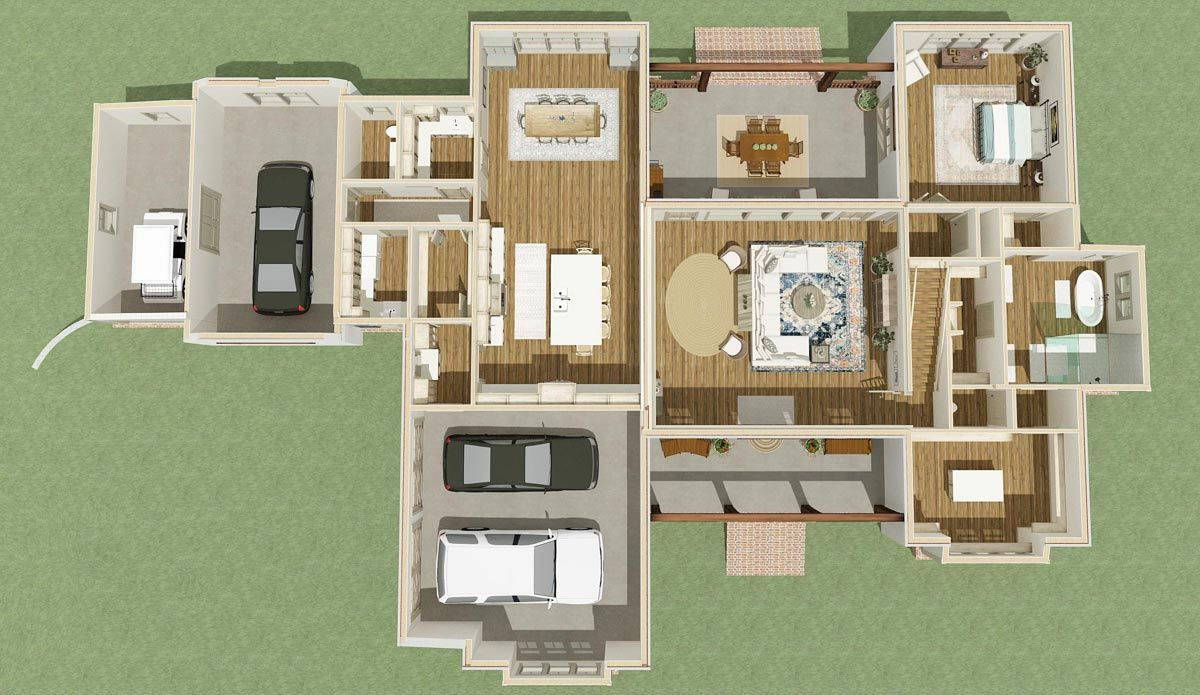 Plan lls bed country farmhouse plan with master on main in