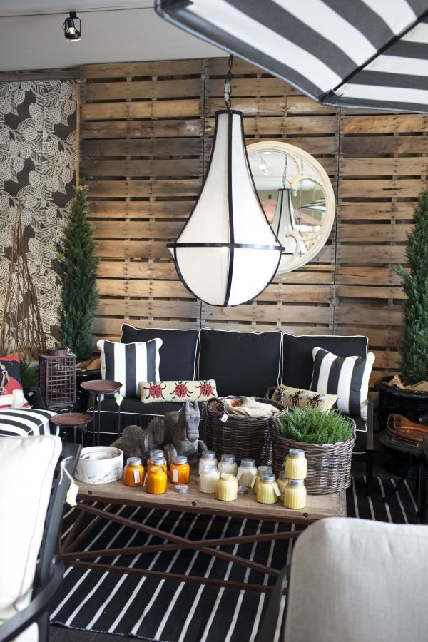 Get Your Patio Ready For Spring: Black And White Color Scheme Creates A  More Formal
