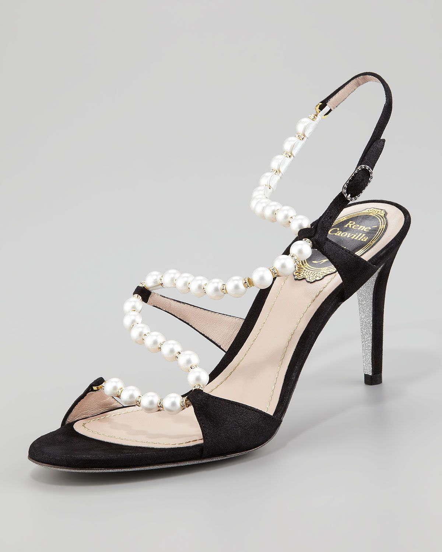 bb93021fb4a Rene Caovilla Twisting-Strap Pearl Sandal - Neiman Marcus