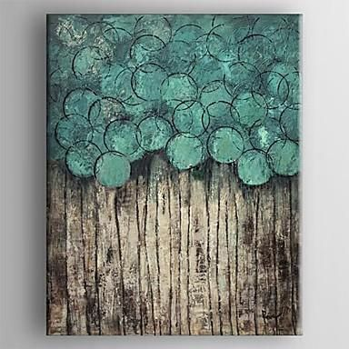 Photo of Hand-painted Modern Oil Abstract, Turquoise Artwork