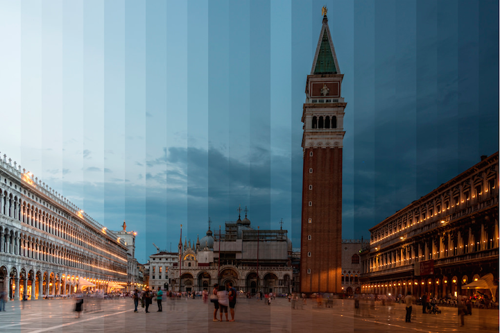 Multiple Photos of Iconic Places Taken Over Time are Sliced into Single Images - My Modern Met
