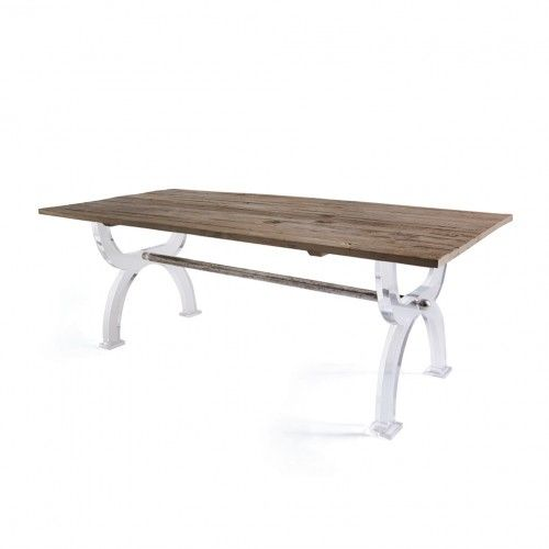 Acrylic Legs Rustic Wood Table Top Dining Table Dining Table In