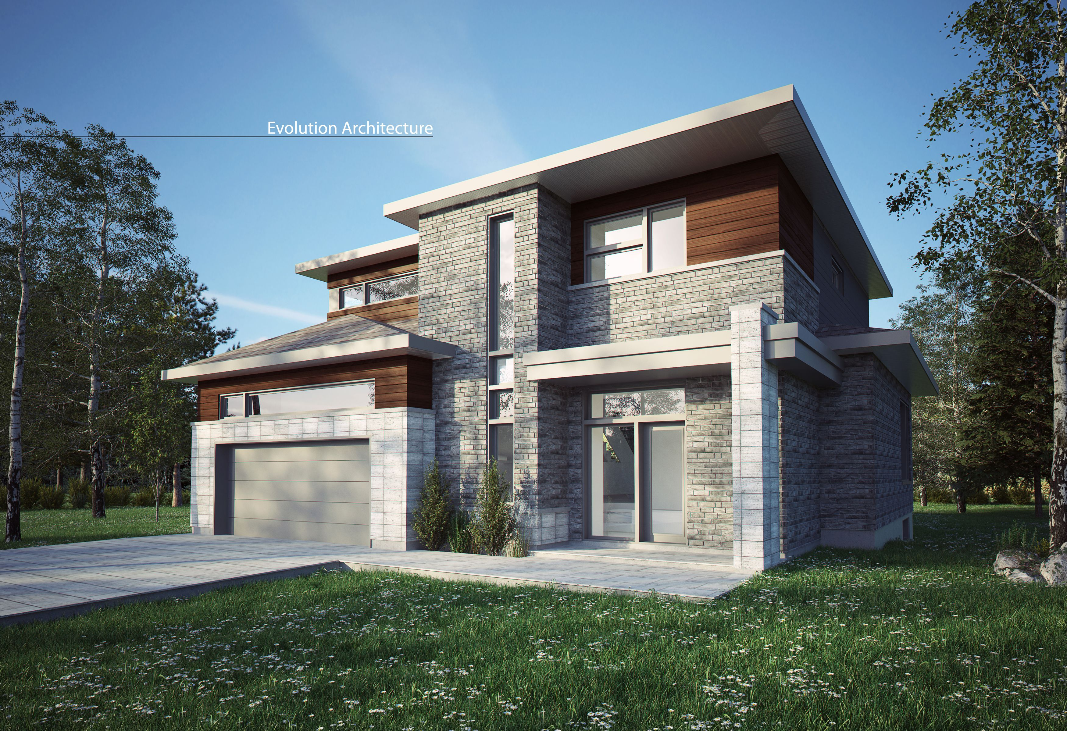 Architecture maison contemporaine cr ation exclusive e for Architecture moderne maison
