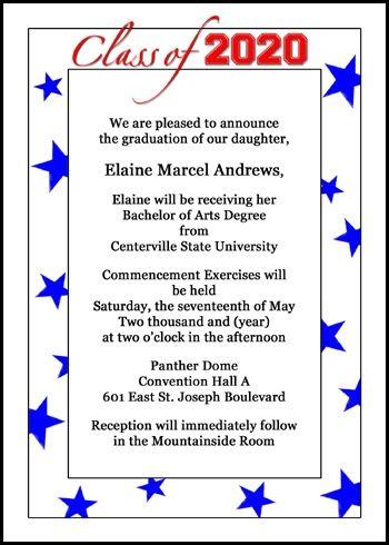 Blue Yellow College Graduation Invites Parties Celebrations