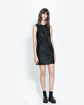 Straight Faux Leather Dress