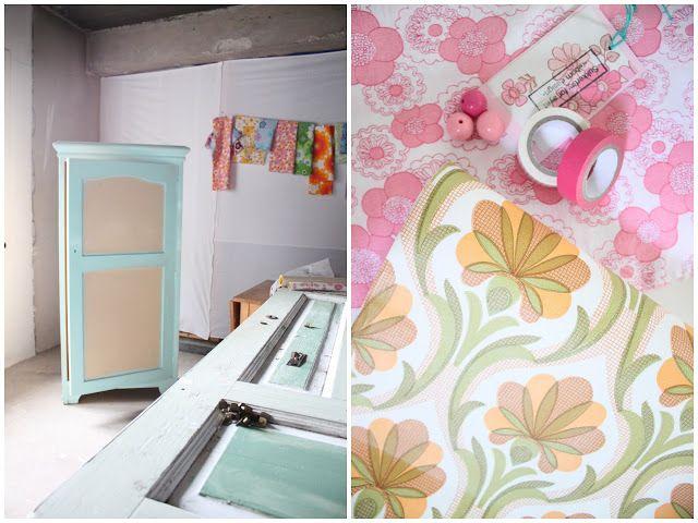 Scrap fabrics/wallpaper...