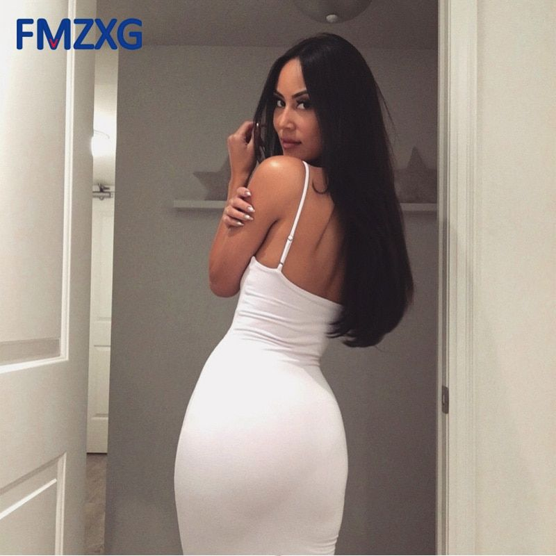 US $10.83 23% OFF|Sleeveless Stretchy Sexy Backless Dress Short Slim Pleated High Waist Pencil Dress Casual Summer Women Work Office Bodycon Dress-in Dresses from Women's Clothing on AliExpress #shortbacklessdress